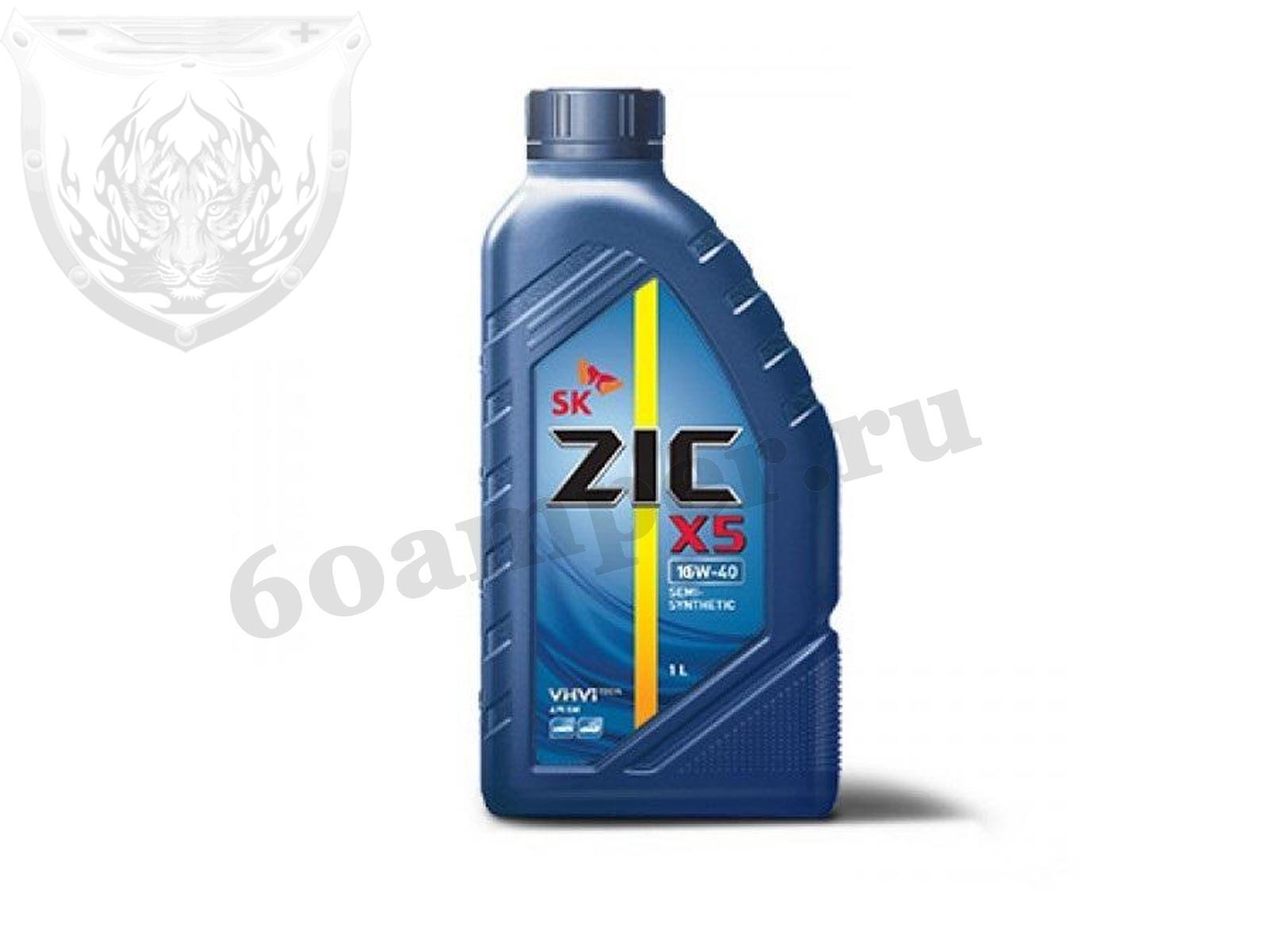 ZIC X5 10W40 SM (п/синт) 1л.